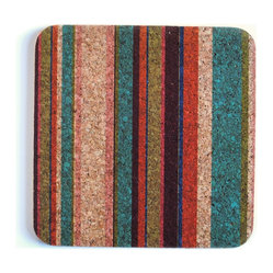 Tropical Stripe Square Trivet