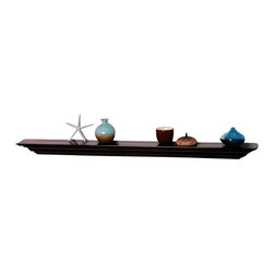 Welland - Corona Crown Molding Wall Shelf, 60-Inch, Espresso - Display your finest wares on an extra-thick floating shelf that captures the style and elegance of crown molding. Perfect for holding wineglasses in a formal dining room, housing books in the library or home office, or displaying fine china in the dining room. Classy, not stuffy. What a breath of fresh air!