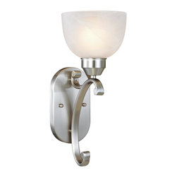 Minka Lavery - Minka Lavery 5420-84 Paradox 1 Light Wall Sconce - Brushed Nickel Finish