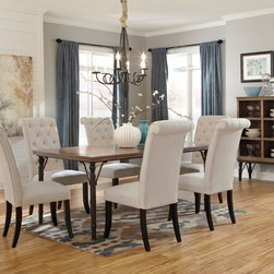 Hot Vintage Casual Dining Set - Very hot vintage casual dining set - the entire set (table + 6 chairs + server) just $1297