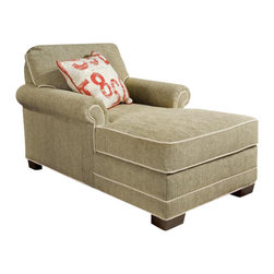 Chelsea Home Furniture - Chelsea Home 2-Arm Chaise in Montage Silver with Go Figure Accent Pillow - Simply Yours 2-Arm Chaise in Montage Silver with Go Figure Accent Pillow belongs to the Chelsea Home Furniture collection