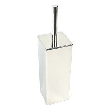 Gedy - Polished Chrome Free Standing Toilet Brush - Sleek, modern and geometric, this stainless steel toilet brush is perfect for any contemporary bathroom. The polished chrome finish on the handle gives it a stylish shine, and the efficient bristles ensure a clean bowl, every time you use this free standing brush.