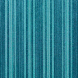 Turquoise Two Toned Stripe Metallic Sheen Upholstery Fabric By The Yard - This multipurpose fabric is great for residential upholstery, bedding and drapery. This material is woven for enhanced elegance. The sheen of this material varies depending on the light for a unique appearance.