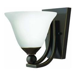 Hinkley Lighting - Hinkley Lighting 4650-OPAL 1 Light Indoor Wall Sconce - Single Light Indoor Wall Sconce from with Etched Opal Shade the Bolla CollectionFeatures: