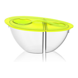Adnart - Flip N Pour Yogurt Container, Lime - Flip n pour is great for keeping your favourite snacks and meals fresh and safely stored
