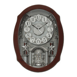 HERMLE - Hermle Clara Musical Wall Clock - When this musical motion clock chimes you will see twinkling lights and the dial will rotate the Arabic numerals.