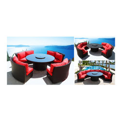 Patented Cassandra Outdoor Wicker Sectional Sofa & Dining in One Patio Furniture - Darla Messenger