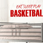 Decals for the Wall - Wall Decal Sticker Quote Vinyl Eat Sleep Play Basketball Boy's Sports Room S12 - This decal says ''Eat, Sleep, Play Basketball''