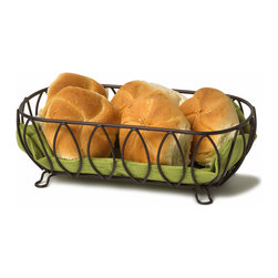 Spectrum Diversified Designs - Leaf Bread Basket - Bronze - Serve bread, rolls and muffins in this Leaf Bread Basket. Made of sturdy black steel with a bronze finish. A favorite hospitality item for restaurants and hotels.