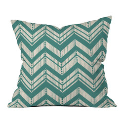 Heather Dutton Weathered Chevron Outdoor Throw Pillow - Do you hear that noise? it's your outdoor area begging for a facelift and what better way to turn up the chic than with our outdoor throw pillow collection? Made from water and mildew proof woven polyester, our indoor/outdoor throw pillow is the perfect way to add some vibrance and character to your boring outdoor furniture while giving the rain a run for its money.