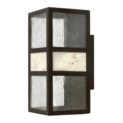 Hinkley Lighting - Hinkley Lighting Sierra Contemporary Outdoor Wall Sconce X-BS4541 - Celebrate the sophistication, charm, elegance, poise, luxury, and quiet exuberance of this contemporary wall pendant. The clear seedy and stone shade provides a bright and romantic glow that looks neat over your porch, patio, garage, main gate, or in your garden. The Spanish Bronze finish is highly durable and made to impress and get people talking. Share it with family and friends.