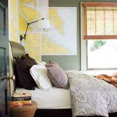 Map Wallpaper Bedroom - MyHomeIdeas.com