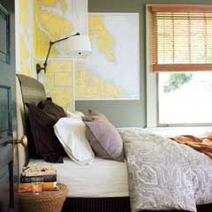 Map Wallpaper Bedroom - MyHomeIdeas.com