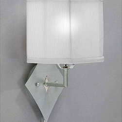None - Pin-up Plug-in Brushed Nickel Lamp - Brighten your home decor with a pin-up plug-in lampWall lamp features a stylish white corduroy shadeLighting fixture is the perfect touch to any room