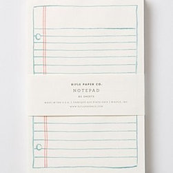 "Rifle Paper Co. - Rifle Paper Co. Notepad - By Rifle Paper Co.Natural paper6.5""H, 4.25""W85 lined pagesUSA"
