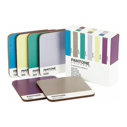 Whitbread Wilkinson - Set of 6 Pantone Coaster, Interior Colors - Add bold colorful style to your living space with this set of six Pantone Universe coasters. Made from a durable lacquer coated board with a cork backing, they are heavy-duty, and perfect for protecting your surfaces. Perfect for mix and matching with Pantone mugs!