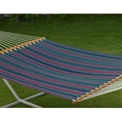 Palmetto Quilted Hammock Tricolor Stripe - Work on your tan, read a book, or simply enjoy the relaxing feel of the soft cotton Palmetto Quilted Hammock Tricolor Stripe.