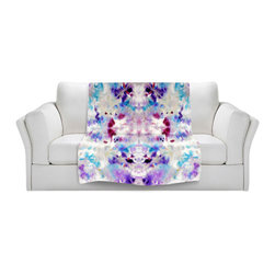 DiaNoche Designs - Throw Blanket Fleece - Purple Rorschach - Original Artwork printed to an ultra soft fleece Blanket for a unique look and feel of your living room couch or bedroom space.  DiaNoche Designs uses images from artists all over the world to create Illuminated art, Canvas Art, Sheets, Pillows, Duvets, Blankets and many other items that you can print to.  Every purchase supports an artist!