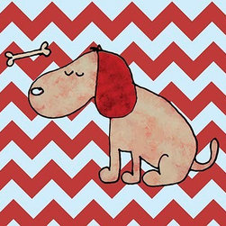 Oh How Cute Kids by Serena Bowman - Dirty Dog Chevron, Ready To Hang Canvas Kid's Wall Decor, 11 X 14 - Each kid is unique in his/her own way, so why shouldn't their wall decor be as well! With our extensive selection of canvas wall art for kids, from princesses to spaceships, from cowboys to traveling girls, we'll help you find that perfect piece for your special one.  Or you can fill the entire room with our imaginative art; every canvas is part of a coordinated series, an easy way to provide a complete and unified look for any room.