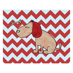 Oh How Cute Kids by Serena Bowman - Dirty Dog Chevron, Ready To Hang Canvas Kid's Wall Decor, 24 X 30 - Each kid is unique in his/her own way, so why shouldn't their wall decor be as well! With our extensive selection of canvas wall art for kids, from princesses to spaceships, from cowboys to traveling girls, we'll help you find that perfect piece for your special one.  Or you can fill the entire room with our imaginative art; every canvas is part of a coordinated series, an easy way to provide a complete and unified look for any room.