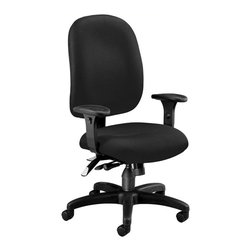 OFM - OFM Ergonomic Task Computer Chair in Black - OFM - Office Chairs - 125805 - Others will notice the style you'll feel the ergonomic support with OFM's Ergonomic Task Chair. Features 7 ergonomic adjustments: back height back angle back depth gas lift seat height seat tilt/lock/tension control plus 7-position arm height. Users will easily find their ideal positioning plus enjoy the built-in lumbar support. Weight capacity is up to 250 lbs.