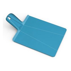 "Joseph Joseph - Joseph Joseph ""Chop2Pot"" Plus Small Cutting Board, Blue - Developed with designer Mark Sanders, this Chop 2 Pot cutting board allows you to chop then conveniently folds for transport to your pot or bowls"