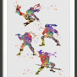 KidsPlayHome - Ninja Turtles Wall Art - Playroom Art Print