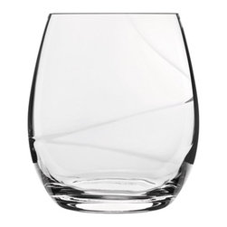 Luigi Bormioli - Luigi Bormioli Aero 13.5 oz. Stemless Wine Glasses - Set of 6 Multicolor - 10940 - Shop for Drinkware from Hayneedle.com! A spiral optic on the inside of the bowl creates fast aeration and makes these Luigi Bormioli Aero 13.5 oz. Stemless Wine Glasses - Set of 6 an elegant and smart addition to any wine lover s glassware collection. A perfect match for wine of any age the unique design of the high-tech blown glasses are stemless but they manage to remain comfortable in the hand as you enjoy your vintage s fruity aromas and flavors over dinner or while enjoying company with friends. The glass is also completely lead-free and they are dishwasher safe. Made in Italy.About Luigi BormioliFounded in 1946 by Mr. Luigi Bormioli himself the Bormioli family continues Luigi s mission of commitment to great design traditional Italian craftsmanship and new innovative glassmaking technology to produce the world s most beautiful and durable glassware. Producers of wine glasses tumblers decanters and everything in between Luigi Bormioli is located in Parma Italy halfway between Bologna and Milan and is influenced by the region s reputation for art music and higher learning. Bormioli s glassmaking construction rivals fine crystal in its appearance but is 100-percent lead-free affordable and widely available.