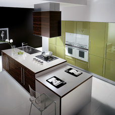 Modern Kitchen Cabinetry by Italian Kitchen and Bath