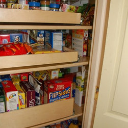 Slide Out Pantry Shelves - Custom slide out pantry shelves by ShelfGenie of Kentucky.