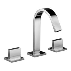 WS Bath Collections - WS Bath Collections Level Three Hole Washbasin Mixer - Three Hole Washbasin Mixer without Waste