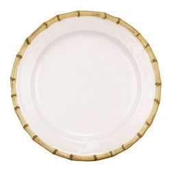 "Juliska - Juliska Classic Bamboo Dinner Plate Natural - Juliska Classic Bamboo Dinner Plate NaturalNatural textures are immediately welcoming. The bamboo trim exudes casual elegance that lends a dash of international flair to the table and mixes easily with other collections. Dimensions: 11"" W"