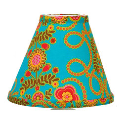Cotton Tale Designs by N. Shelby - Gypsy Standard Lampshade - Why not go all the way? Complete your babys nursery theme with the Gypsy Standard Lamp Shade. Uniquely designed to create an elegant and sophisticated nursery the lamp shade measures 8 x 9 x 4 inches. Spot clean only. Shade made in the USA. Neutral lampshade.