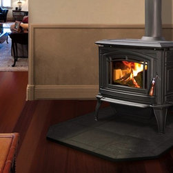 Enviro Boston 1200 Series 30'' x 32'' Cast Iron Freestanding Wood Stove - 1.85 cu. ft. firebox.