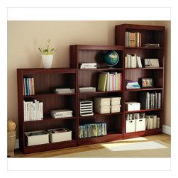 South Shore - South Shore 3 Piece Bookcase Set in Royal Cherry - South Shore - Bookcases - 7246766PKG