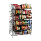 "ATLANTIC, INC - ATLANTIC 23235595 Canrack (Double); - � Deep capacity;� Slim space-saving storage solution;� Durable steel wire construction;� Angled shelves for easy retrieval;� Compact size fits most cabinets & pantry shelves;� No tool assembly;� Silver;� 6 tier;� Dim: 23.75""H x 11.25""W x 15.25""D"