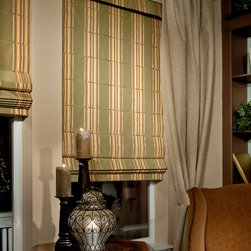 Custom Roman Shades / Blinds - FLAT ROMAN SHADES - www.ddccustomwindowfashions.com -Design your own custom roman shades / roman blinds & side panels for your home with your choice of over 2000 distinctive fabrics, modern styles, and multiple options.