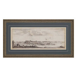 Paragon - View of Avignon - Framed Art - Each product is custom made upon order so there might be small variations from the picture displayed. No two pieces are exactly alike.