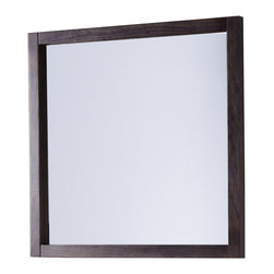 "Macral - 32"" Niza Wall-Framed Mirror - Framed solid wood mirror 32"" - Grey anthracite. The price ONLY includes the mirror, all the rest items such as the vanity and the faucet are NOT INCLUDED, but can be sold separately."