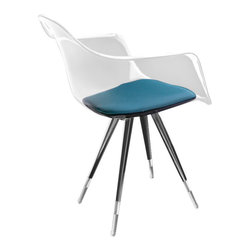 Kubikoff - Angel Armchair, Clear, Turquoise - Angel Armchair