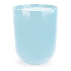 Umbra - Umbra Step Waste Can with Lid, Surf Blue - Our contemporary collection of Step Surf Blue Waste Can with Lid by Umbra, designed by Tom Chung - the worldwide leader in innovative, casual, contemporary and affordable design for the home adds a stylish splash to your bathroom. It features a step detail on the bottom of each piece which gives the illusion of levitation above the surface that it is sitting on.