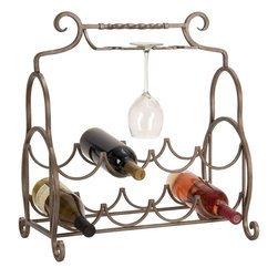Benzara - Metal Wine Rack - Feel pride for having something great at bar area. 68413 METAL WINE RACK creates a feeling of having something unique because of its unique design concept that facilitates to arrange multiple bottles in style.