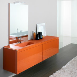 Azzurra - Azzurra | Azzurra Made 10 Vanity Set - Made in Italy by Azzurra.A part of the Made Collection. The Azzurra Made 10 Vanity Set is stylish and innovative. This all-inclusive vanity combo utilizes rectangular shapes and straight lines to form a cutting-edge look complementary to your existing modern bath style. The Made 10 Vanity Set comes complete with three deep drawers for optimal storage capabilities. Use the countertop space for picture frames and decorations or as additional storage space. The vertically-hung mirror completes this vanity set with a crystal clear reflection and an optional LED lamp attachment to brighten any styling occasion. Product Features: