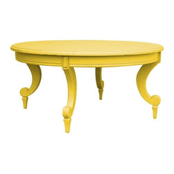 EuroLux Home - New Coffee Table Yellow Painted Hardwood - Product Details