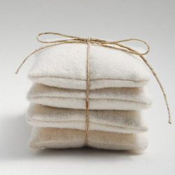Organic Lavender Sachet, Winter White Organic Cotton by Soul Role - Lavender sachets will keep your closet and drawers fresher than usual. The lavender scent also gives me visions of the spa without spending a ton.