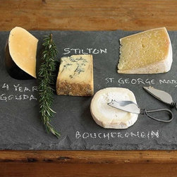 Slate Cheese Board - For an easy gathering during the next couple of months, this slate cheese board will be the perfect go-to item. You can lay out cheeses, desserts or other nibbles and write on it with chalk. Or you can prop it up on the counter and scrawl a holiday message across it when not in use.