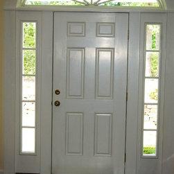 North Garden Home Construction - Front door by #Pella. www.upstream-construction.com