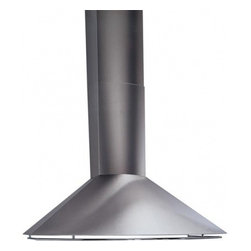 """Best - KEX27342SS 42"""" Chimney Style Wall Mount Hood with Multiple Exterior/In-Line Blow - Best brings you the KEX273 3642 Chimney Style Wall Mount Hood With Multiple ExteriorIn-Line Blower Options it also has a 4-Speed Push Button Control that will make it easy to operate The Dishwasher Safe Mesh Filters will save you money by lasting a l..."""