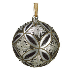 Silk Plants Direct - Silk Plants Direct Glass Star Motif Ball Ornament (Pack of 4) - Pack of 4. Silk Plants Direct specializes in manufacturing, design and supply of the most life-like, premium quality artificial plants, trees, flowers, arrangements, topiaries and containers for home, office and commercial use. Our Glass Star Motif Ball Ornament includes the following: