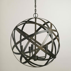 Metal Orb Chandelier - Interlocking circles, orbs, spheres — whatever you call it, this metal pendant light is great. It's a fun way to bring the geometric trend into your home.